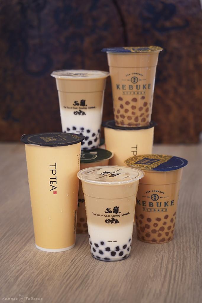 Тайваньский молочный чай с шариками тапиоки